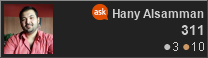 profile for Hany Alsamman at Ask Ubuntu, Q&A for Ubuntu users and developers
